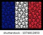 france national flag concept... | Shutterstock .eps vector #1076812853