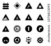 solid vector icon set   sign... | Shutterstock .eps vector #1076813093
