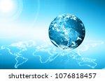 earth from space. best internet ...   Shutterstock . vector #1076818457