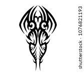 tribal tattoo vector designs... | Shutterstock .eps vector #1076821193