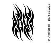 tribal tattoo vector designs... | Shutterstock .eps vector #1076821223
