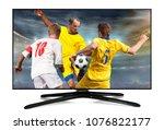 watching smart tv translation... | Shutterstock . vector #1076822177