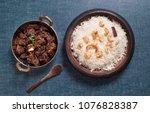 spicy and delicious beef roast... | Shutterstock . vector #1076828387