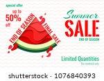 summer sale template banner.... | Shutterstock .eps vector #1076840393