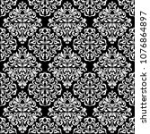 luxurious seamless pattern.... | Shutterstock .eps vector #1076864897