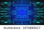 hud futuristic elements... | Shutterstock .eps vector #1076883617
