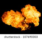 fire isolated on black... | Shutterstock . vector #107690303