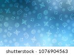 light blue vector cover with... | Shutterstock .eps vector #1076904563