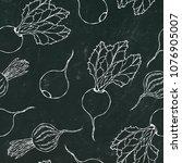black chalk board. seamless... | Shutterstock .eps vector #1076905007