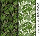 tropical pattern palm summer...   Shutterstock .eps vector #1076936063