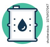 a flat design icon of oil... | Shutterstock .eps vector #1076937047