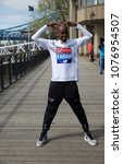 Small photo of London,UK,April 17th 2018,Sir Mo Farah attends the London Marathon Photocall