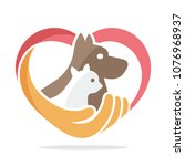 Stock vector icon illustration with the concept of pet care 1076968937