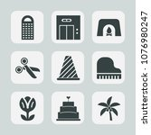 premium set of fill icons. such ... | Shutterstock .eps vector #1076980247