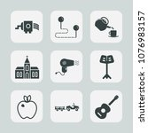 premium set of fill icons. such ... | Shutterstock .eps vector #1076983157