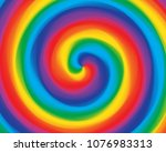 abstract swirl twisted radial... | Shutterstock .eps vector #1076983313