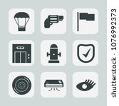 premium set of fill icons. such ... | Shutterstock .eps vector #1076992373