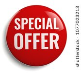special offer discount red... | Shutterstock . vector #1077023213