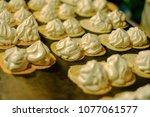 make a thai crispy pancakes on... | Shutterstock . vector #1077061577