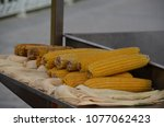 boiled corn with natural light | Shutterstock . vector #1077062423