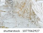 the frost has drawn the... | Shutterstock . vector #1077062927