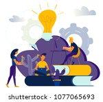 vector graphic elements.... | Shutterstock .eps vector #1077065693
