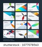 material design presentation... | Shutterstock .eps vector #1077078563
