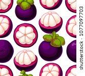 tropical fruits seamless...   Shutterstock .eps vector #1077097703