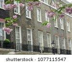 row of luxury london town...   Shutterstock . vector #1077115547