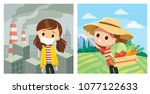 set of illustrations with... | Shutterstock .eps vector #1077122633