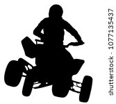 silhouette of the motorcyclist... | Shutterstock .eps vector #1077135437
