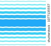 seamless pattern with waves of... | Shutterstock . vector #1077135557