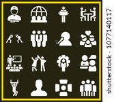 set of 16 people filled icons... | Shutterstock .eps vector #1077140117