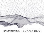 architectural drawing 3d  | Shutterstock .eps vector #1077141077
