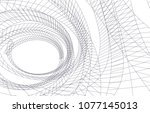 abstract architecture vector 3d ... | Shutterstock .eps vector #1077145013