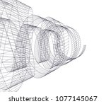 abstract architecture vector 3d ... | Shutterstock .eps vector #1077145067