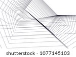 abstract architecture vector 3d ... | Shutterstock .eps vector #1077145103