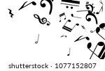 musical notes on white... | Shutterstock .eps vector #1077152807