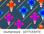 seamless pattern of the... | Shutterstock .eps vector #1077153473