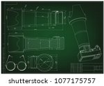 3d model of the camera on a... | Shutterstock .eps vector #1077175757