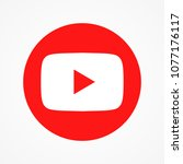 Red Round Button Video Player...