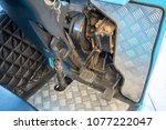 Small photo of Accelerator and break pedals of electrical shuttle bus.