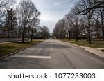 typical midwest suburb street | Shutterstock . vector #1077233003