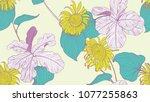 floral seamless pattern ... | Shutterstock .eps vector #1077255863