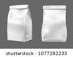 food snack bag on transparent... | Shutterstock .eps vector #1077282233