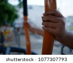 hand catch on public training... | Shutterstock . vector #1077307793