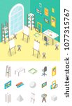 artist workplace and elements... | Shutterstock .eps vector #1077315767