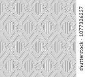 3d white paper art arrow... | Shutterstock .eps vector #1077326237