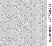 3d white paper art vortex... | Shutterstock .eps vector #1077326303