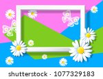 spring background with sliced... | Shutterstock .eps vector #1077329183
